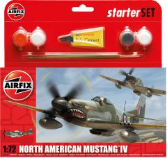 Airfix 1/72 Small Starter Set - North American Mustang Mk