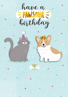 Birthday Greeting Card - Have a Pawsome Birthday