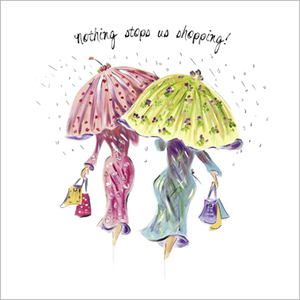 Greeting Card -Nothing stops us shopping- Blank