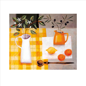 Greeting Card -Citrus and Orange Blossom- Blank