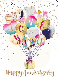 Greeting Card - Balloons - Your Anniversary