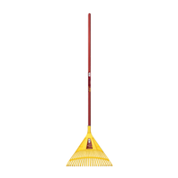 Jumbo lawn and leaf rake with 22 tooth head.