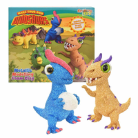 4 IN 1 MAKE YOUR OWN DINOSAURS - METALLIC MODELLING FOAM CLAY 3+
