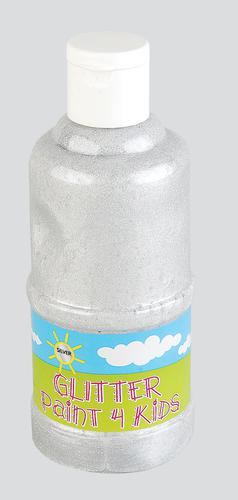 READY MIXED GLITTER PAINT FOR KIDS - SILVER