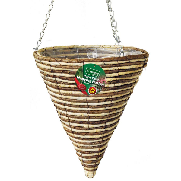12 Inch (30CM) Rope Cone Hanging Basket