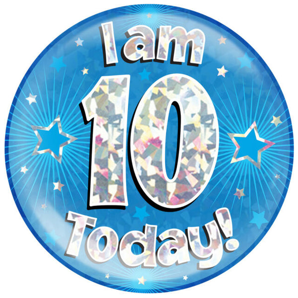 Birthday Badge - Age 10 - Boy - Assorted Designs