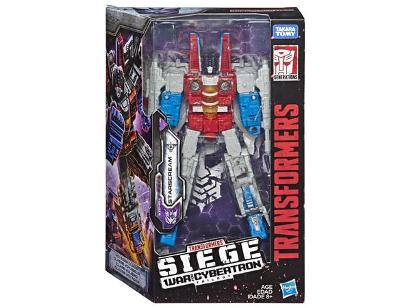 Transformers Toys Generations War for Cybertron Voyager WFC-S24 Starscream Action Figure - Siege Chapter