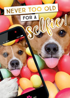 Greeting Card - Open - Dog (Single Selfie)