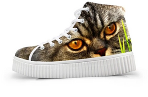 Cat designed high tops