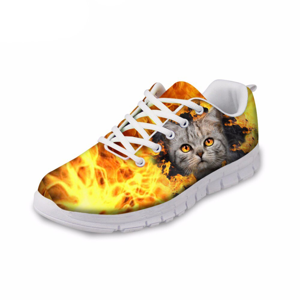 Cat and dog fire style shoes