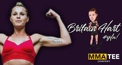 Britain Hart Signs with MMA Tee Company ahead of Upcoming BKFC Fight