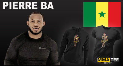 Rising Prospect Pierre Ba Signs with MMA Tee Company