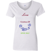 Love 5.3 oz. V-Neck T-Shirt