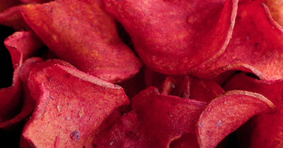 Baked Beet Chips with Rosemary and Sea Salt