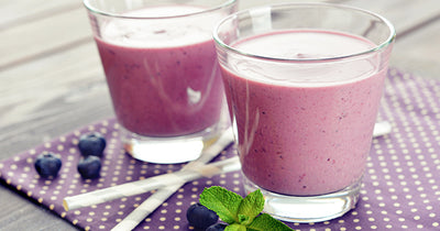 Vegan Blueberry Coconut Smoothie
