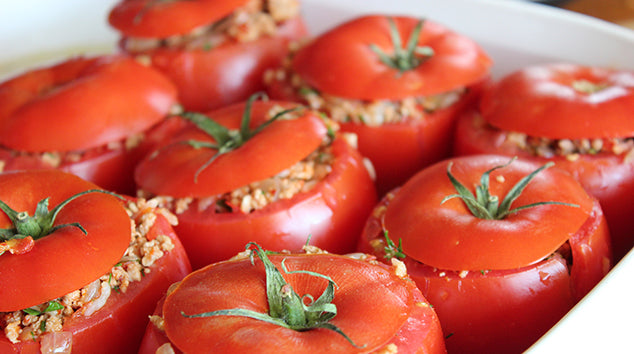 Vegan Quinoa Stuffed Tomatoes