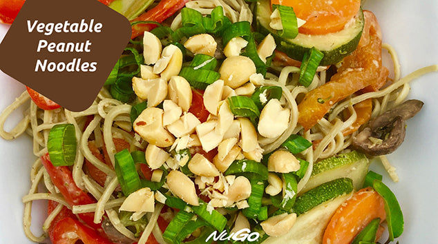 Vegetable Peanut Noodles