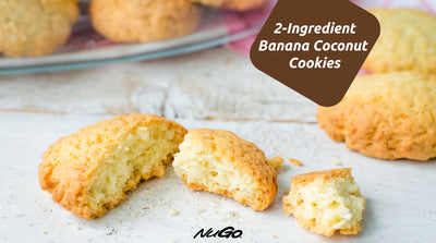 2-Ingredient Banana Coconut Cookies