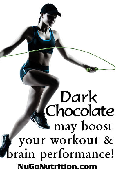 Dark Chocolate may boost your workout and brain performance!