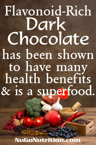 Flavonoid-Rich Dark Chocolate has been shown to have many health benefits and is a superfood.