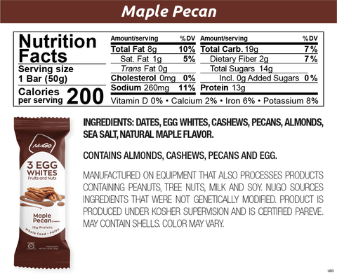 NuGo Egg White Protein Maple Pecan