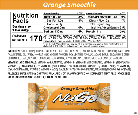NuGo Orange Smoothie