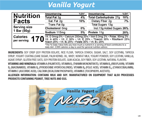 NuGo Vanilla Yogurt