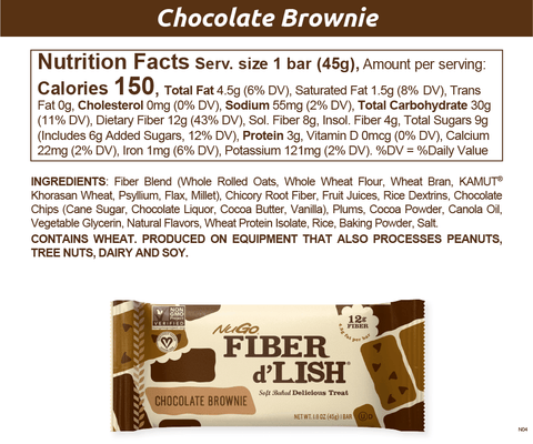 NuGo Fiber d'Lish Chocolate Brownie
