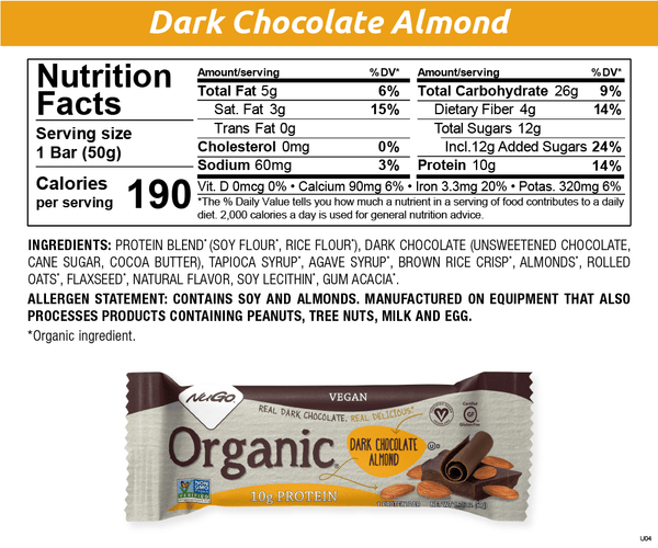 NuGo Organic Dark Chocolate Almond