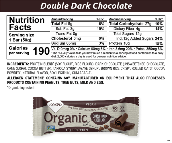 Double Dark Chocolate Nutritionals