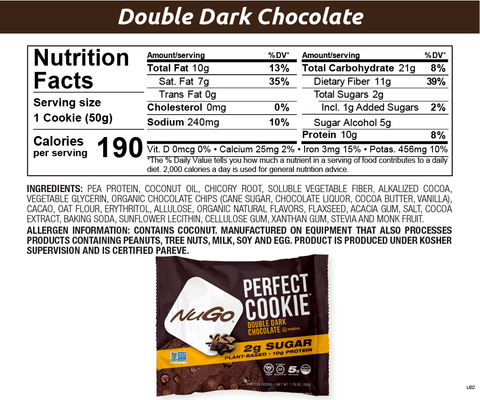 NuGo Perfect Cookie Double Dark Chocolate
