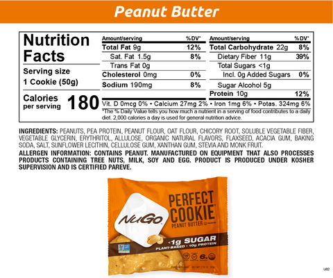 NuGo Perfect Cookie Peanut Butter