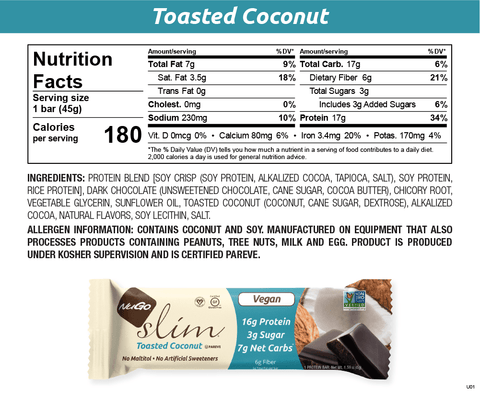 NuGo Slim Toasted Coconut
