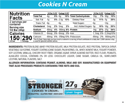 NuGo Stronger Cookies 'n Cream