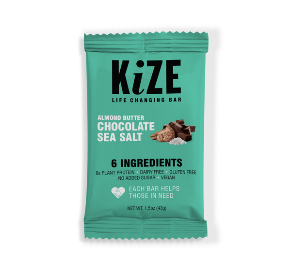Kize Almond Butter Chocolate Sea Salt Wrapper
