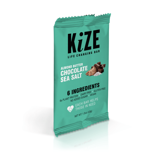 Kize Almond Butter Chocolate Sea Salt Wrapper - Front