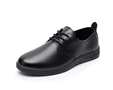 homme chaussures en cuir respirant bout rond