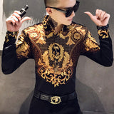 Luxury Gold Print Shirt