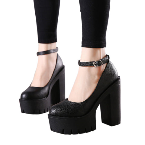 2020 new spring autumn casual high-heeled shoes