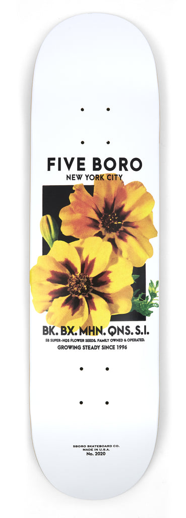 5Boro Flower Seed Yellow Skateboard