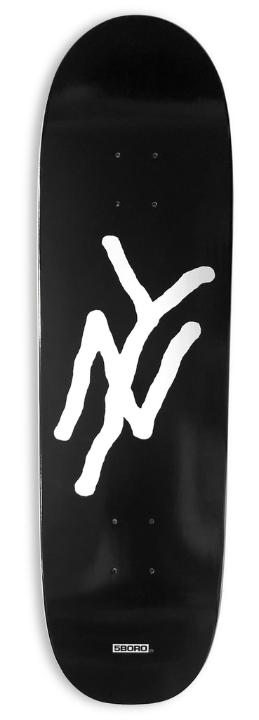 "5B                        NY LOGO BLACK 8.75"" Shred Shape"
