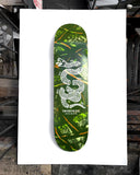 Green & Brown Stenciled Pine Camo with Join or Die Snake Printed in White