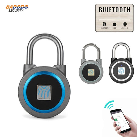 Waterproof Keyless portable Bluetooth smart Fingerprint Lock padlock Anti-Theft iOS Android APP control door cabinet padlock