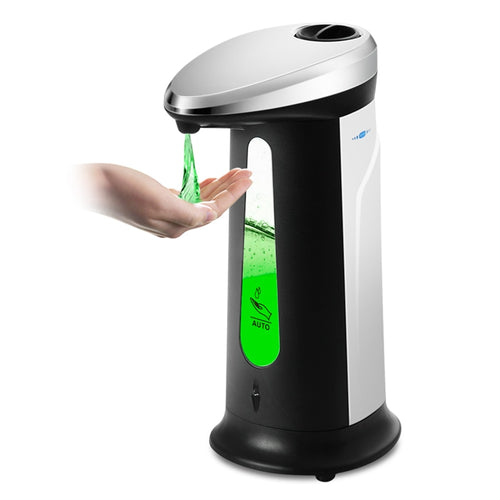 400Ml Automatic Liquid Soap Dispenser Smart Sensor Touchless ABS Electroplated Sanitizer Dispensador for Kitchen Bathroom