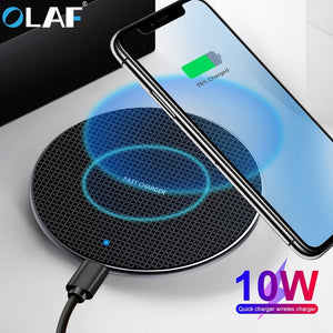Olaf 10W Qi Wireless Charger For Samsung Galaxy S10 S9/S9+ S8 Note 9 USB Fast Charging Pad for iPhone 11 Pro XS Max XR X 8