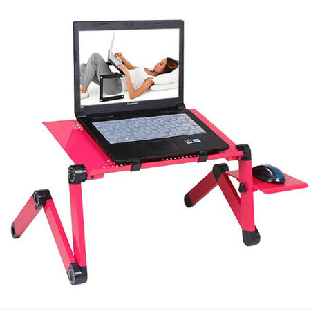 Adjustable Aluminum Laptop Desk With Mouse Pad