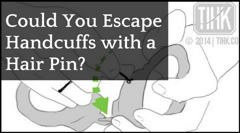 Escape handcuffs with a hair pin