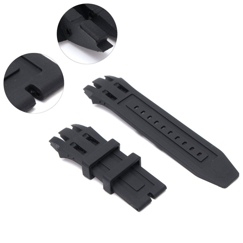 BandAround™ Rubber Watch Band Strap Replacement Kit Black Soft Silicone