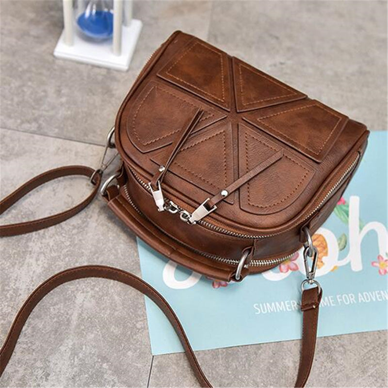 HomeAlive™ Woman's Crossbody Shoulder Bag Brown