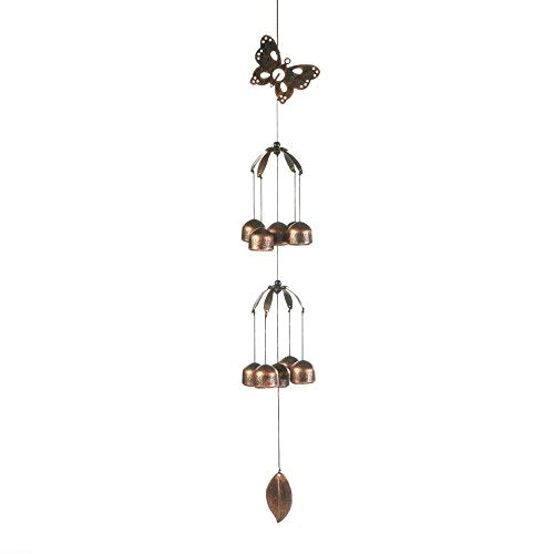 HomeAlive™ Wind Chimes Butterfly Double Tier Bell